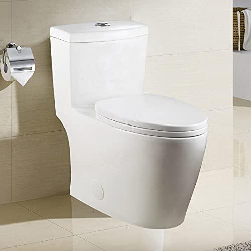 WinZo WZ5028 Elongated One Piece Toilet, Dual Flush 0.8 /1.6...