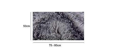 Fabrics-City Newborn Fell LANGHAAR 50cmx75cm Fotografie Foto Requisiten DIY NEUGEBORENEN FOTOGRAFIEDECKE FOTOSHOOTING, 3099(Grau/weiß)