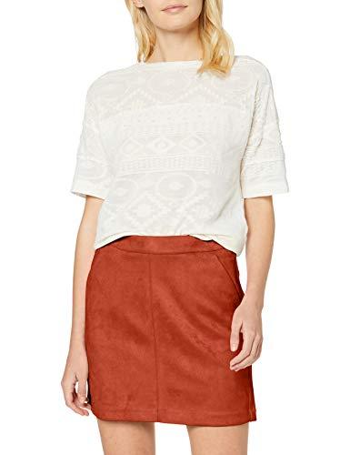 VERO MODA Damen VMDONNADINA Faux Suede Short Skirt NOOS Rock, Auburn, M