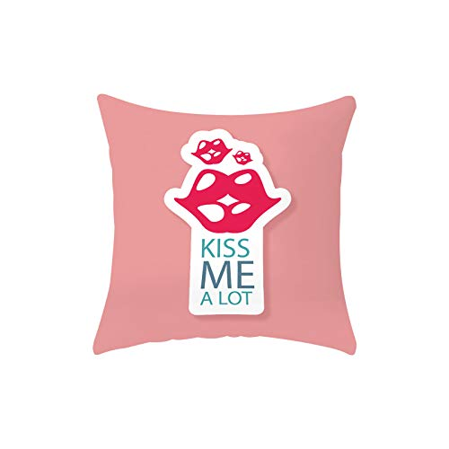 Fundas de almohada para el día de San Valentín, 45,7 x 45,7 cm, decoración de San Valentín, funda de cojín de lino y algodón, para decoración del hogar