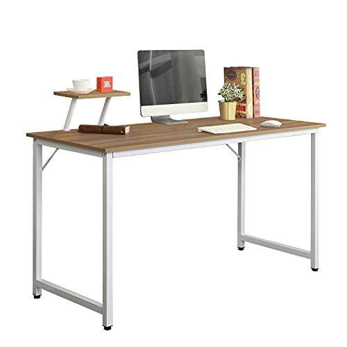 sogesfurniture Mesa de Ordenador Moderno Escritorios para Computadora Escritorio de Oficina Mesa de Trabajo Mesa de Estudio de Madera y Acero, 100x50x75cm, WK-JK100-OK-BH