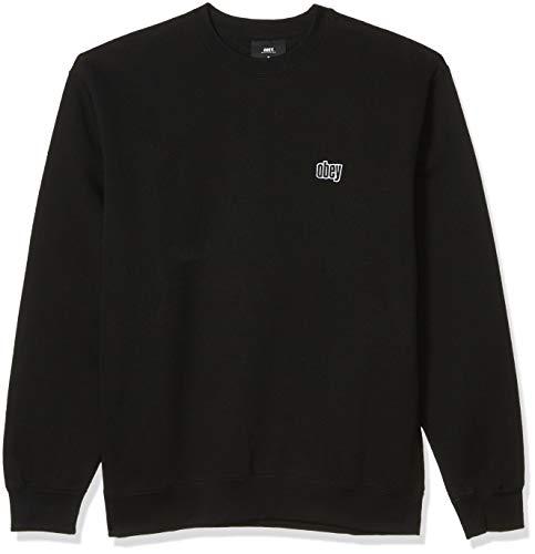 Obey Herren Joy Crewneck Sweatshirt, schwarz, Small