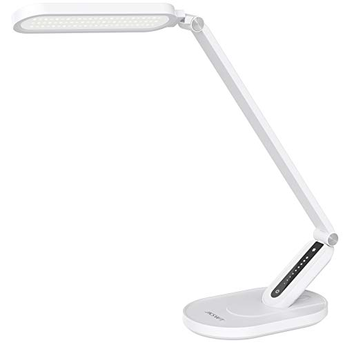 LED Desk Lamp, JKSWT Eye-Caring Table Lamps Natural Light Protects Eyes Dimmable Office Lamp with...