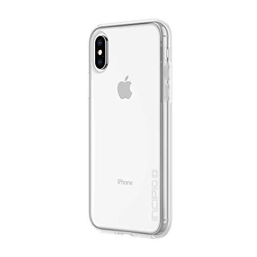 Incipio Octane Pure Schutzhülle für Apple iPhone Xs / X [Extrem Robust I Integrierter Bumper I Transparent I Hybrid I Qi kompatibel] - IPH-1780-CLR