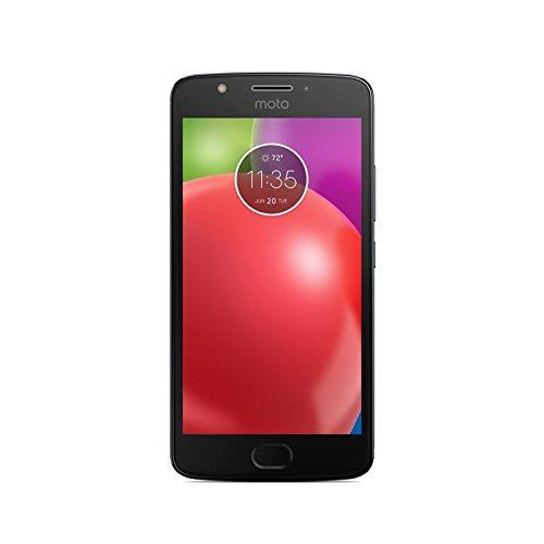 Motorola Moto E4 - Smartphone Libre de 5' HD, 2.800 mAh de batería, cámara de 8 MP, 2 GB de RAM + 16 GB de Almacenamiento, procesador Quad-Core de 1.3 GHz, Color Gris