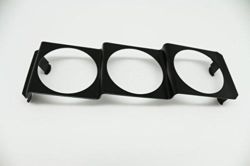 CarLab 1 panneau universel de 52 mm à trois calibres radio DIN en métal noir type A.