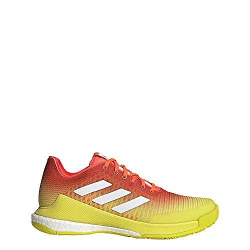adidas Crazyflight Damen Crosstrainer, Solarrot/Wolkenweiß/Säuregelb,