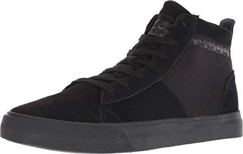 Supra Men's Stacks Mid Hi Top Sneaker Shoes Black Blk 10