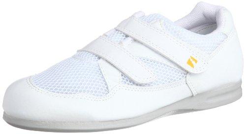 [ミドリ安全] 静電作業靴 静電気帯電防止 マジックタイプ スニーカー エレパス PS15S メンズ ホワイト 22.0(22cm)
