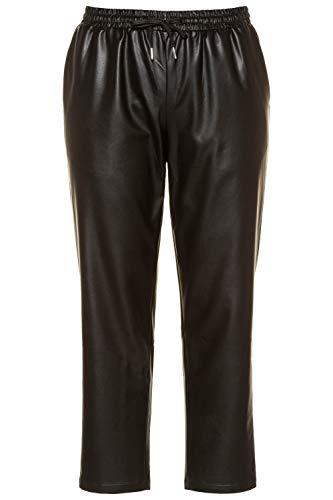 Studio Untold Damen Fake-Lederhose, Skinny Hose, Schwarz (Schwarz 75033910), 52
