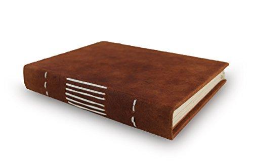 Nepali Keeper Tagebuch mit Handgefertigtes Lokta Papier. Hergestellt in Nepal. 5x7 Inches Terra Cotta