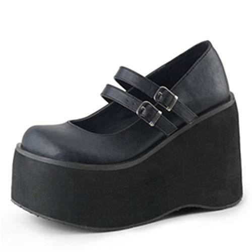 DQS The Big Size 43 Women Solid Buckle Platform Marry Janes Shoes Lolita Thick Bottom Gothic Women's Pumps Girls Pumps