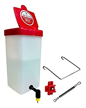 RentACoop Chick Waterer 1Liter (32oz) Drinker Plus Red Versatile Nipple