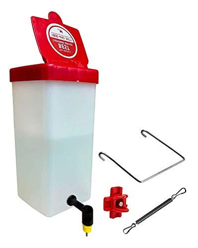 RentACoop Chick Waterer 1Liter(32oz) Drinker Plus Red Versatile Nipple (Pack of 1)