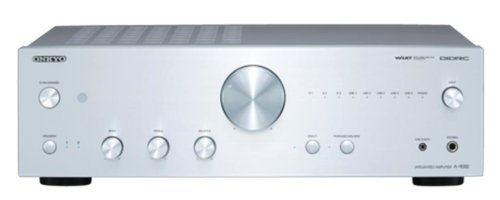 Onkyo A-9050 (S) geïntegreerde stereo versterker (DIDRC, WRAT, 75 W/kanaal) zilver