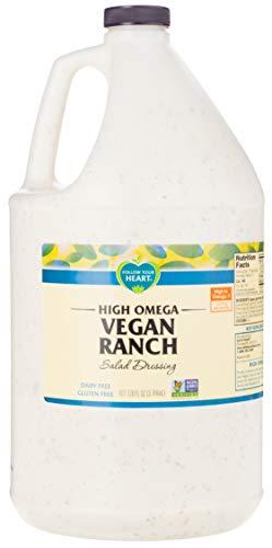 Follow Your Heart Dairy Free, Non-GMO High Omega Vegan Ranch 1 Gallon (Pack of 4)