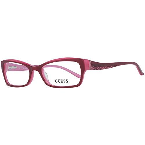 Guess Brille Gu2261 F18 51 Montature, Rosso (Rot), 51.0 Donna