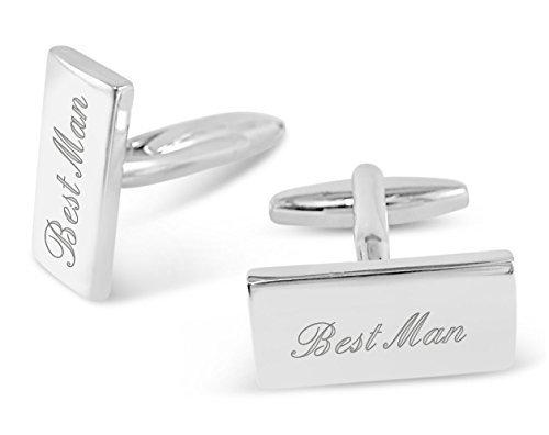 Best Man Manschettenknöpfe, personalisiert mit bis zu 30 Buchstaben), ideales Geschenk, M17