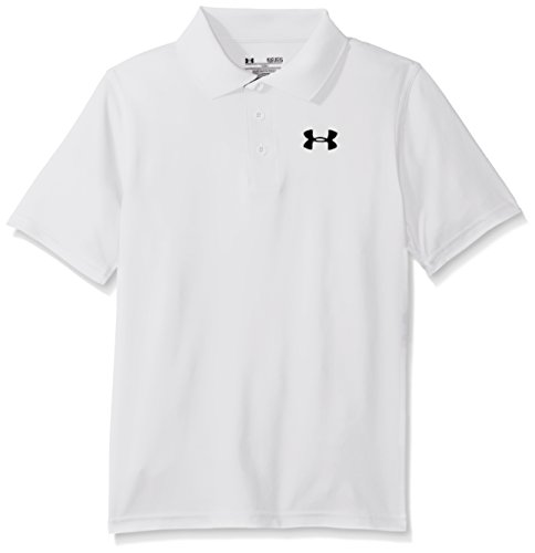 Under Armour Jungen Matchplay Polo Golf - Polos & T-shirts, White, YXL