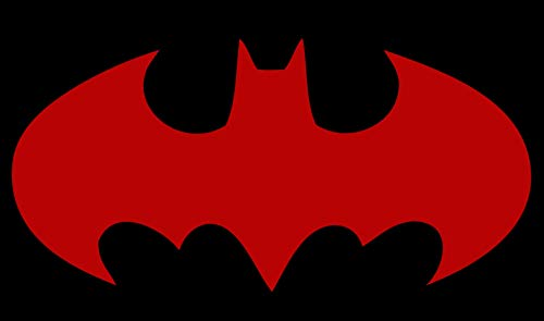 Licenses Products Batman Logo Decal Sticker (Red, 5.5 in)