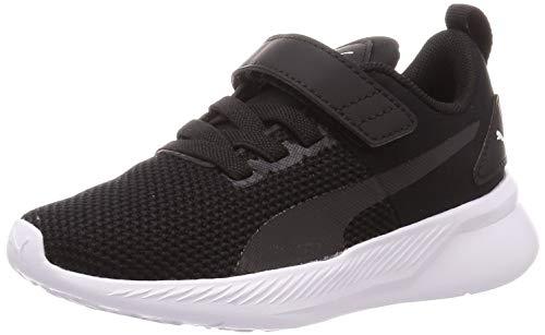 PUMA Unisex-Kinder Flyer Runner V Ps Sneaker, Schwarz Black White 01, 31 EU