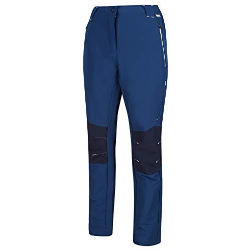 Regatta Damen Womens Questra II Water Repellent Wind Resistant Stretch Softshell Walking Trousers Hose, Preußisch/Navy, 20