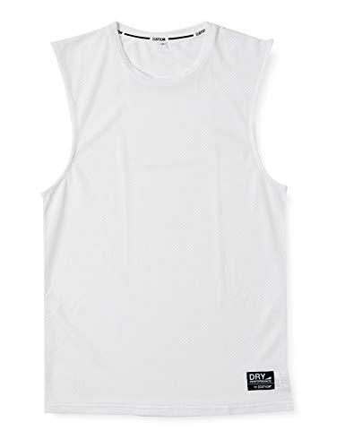 [エーショ-ン] インナーシャツ クレーターメッシュ 丸首 ノースリーブ ホワイト L