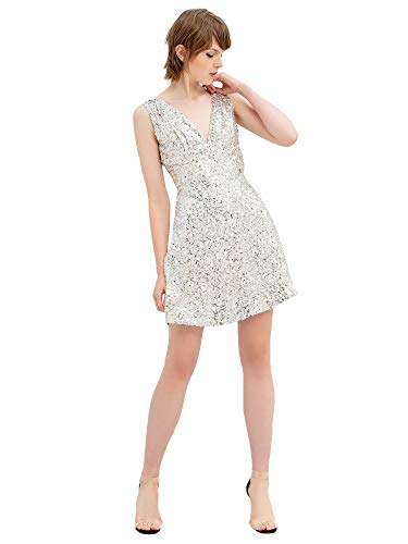Fracomina Kleid für Damen, Mehrfarbig L