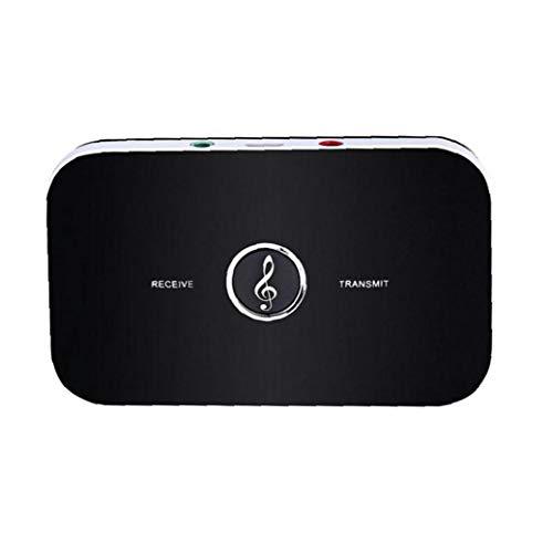 Altavoces Auriculares receptor de la música del remitente del transmisor receptor Bluetooth B6 TV Internet inalámbrico de audio Adaptador Negro