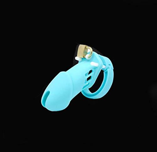 FEIPO5 Cerradura de la Jaula de la protección del Ejercicio Deportivo de los Hombres del silicón Azul Lindo 5 tamaños B5