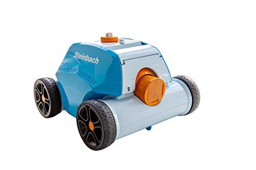 Steinbach Poolrunner Battery+, für Pools bis 80 m² Grundfläche, vollautomatisch, kabellos, akkubetrieben, 10 m³/h, blau, 061013