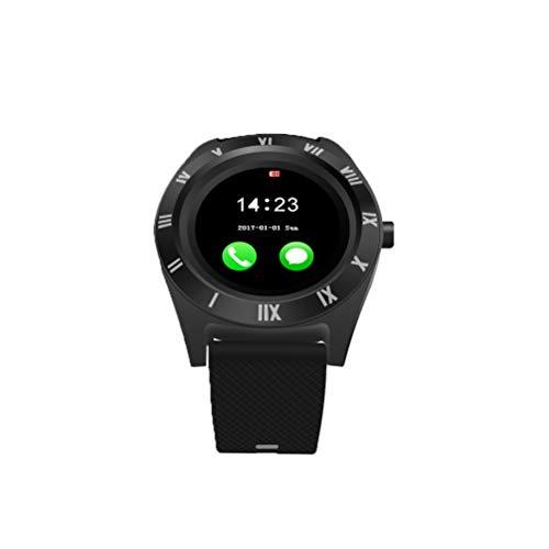 Smart Watch Phone 32 MB RAM 32 MB ROM 3.0 Unterstützung Speicherkarte SIM-Karte Schrittzähler Smartwatch mit Kamera für Android (schwarz)