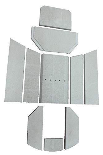 Feuerraumauskleidung A für Oranier Polar 6 Kaminöfen - Vermiculite - 10-teilig