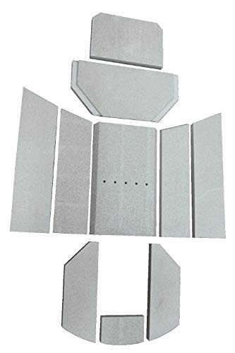 Feuerraumauskleidung D für Oranier Polar 6 Kaminöfen - Vermiculite - 10-teilig