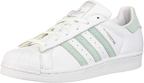 adidas Women's Superstar W Fitness Shoes, White (Ftwbla/Vercen/Plamet 0), 3.5 UK