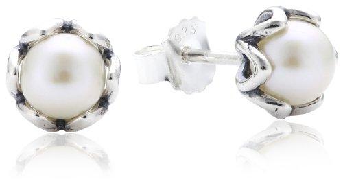 Pandora 290533P - Pendientes de plata de ley con cierre de a presión