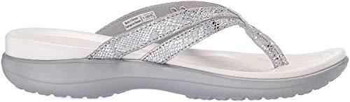 Crocs Capri Strappy Flip W, Zapatos de Playa y Piscina para Mujer