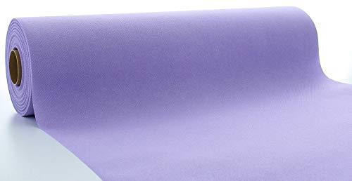 Mank Airlaid Tischläufer 40 cm x 24 m   Gastronomie   Tischdecken-Rolle stoffähnlich   praktische Einmal-Tischdecke   Uni   Neutral   1 Stück   (Lila)