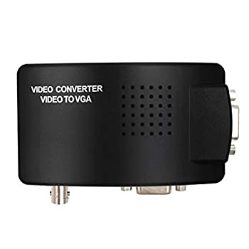 Portable BNC to VGA Video Converter Composite S-Video Input to PC VGA Out Adapter Digital Switch Box for PC MACTV Camera DVD DVR