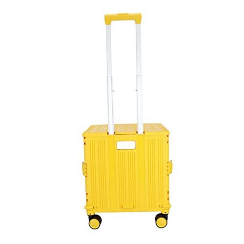Escalada Coche Compras Trolley Portátil Mango Ajustable Trolley Caja Equipaje Trailer Ligero Robusto Plegable 4 Rueda