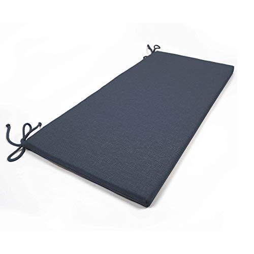 Arketicom 2 Coussins De Chaise et banquets Rectangulaire avec 2 Lacets en Mixte Coton Couleur Blues 40x90x3 cm