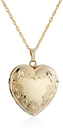 14k Yellow Gold-Filled Engraved Fou…