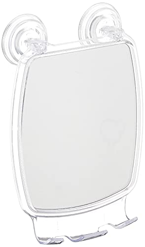 InterDesign Power Lock Specchio Antiappannamento, Rettangolare, 17x6.5x23 cm