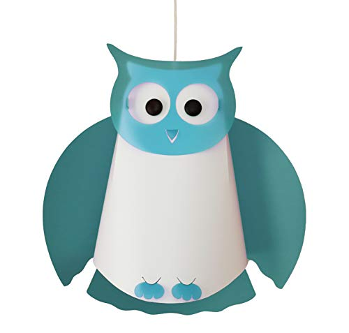 R & M Coudet plafondlamp kinderkamer uil blauw Turkoois
