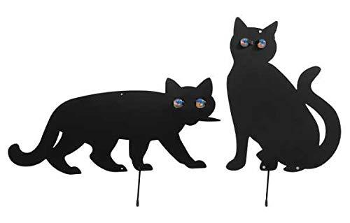 WENKO Vogelschreck Katzen, 2er Set vertreiben verjagen Schreck scheuchen Vogelschreck Vögel verjagen