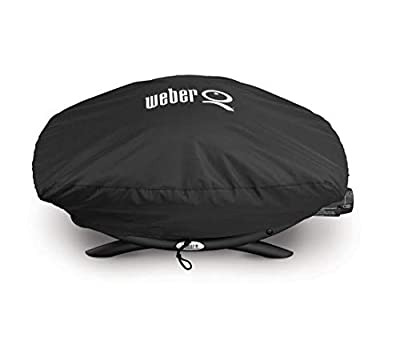 Weber 7111 Grill Cover for Q 200/2000 Series Gas Grills,Black