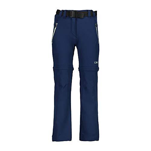 CMP Zip off Dry Function Trousers, Pantaloni Bambina, Blue, 110