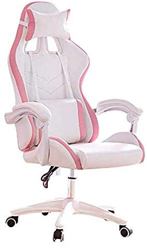 Tumbonas,silla para juegos de computadora,silla ergonómica para oficina con respaldo alto,silla de cuero sintético para escritorio,silla de estudio con reposacabezas y reposabrazos,negro/blanco/rosa p
