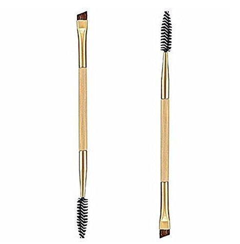 Grifri 1 pcs Maquillage Bambou Poignée double sourcils Brosse + Peigne à sourcils