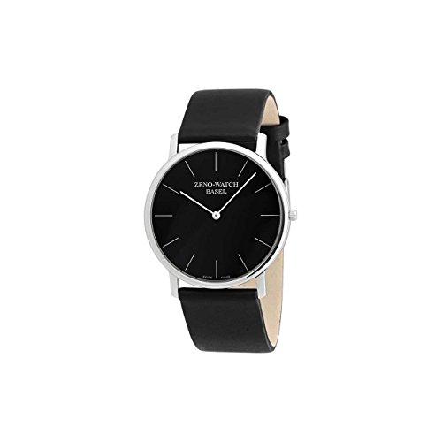 Zeno 40mm Bauhaus Dress Watch with Black...